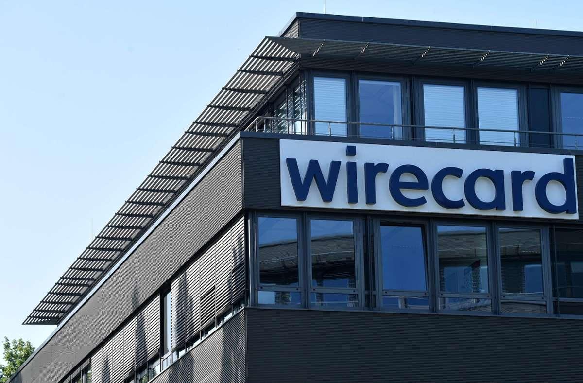 Der Schriftzug von Wirecard ist an der Firmenzentrale des Zahlungsdienstleisters zu sehen. Foto: AFP/CHRISTOF STACHE