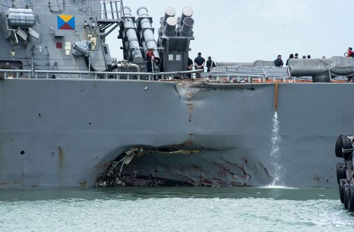 US-Kriegsschiffe auf Kollisionskurs