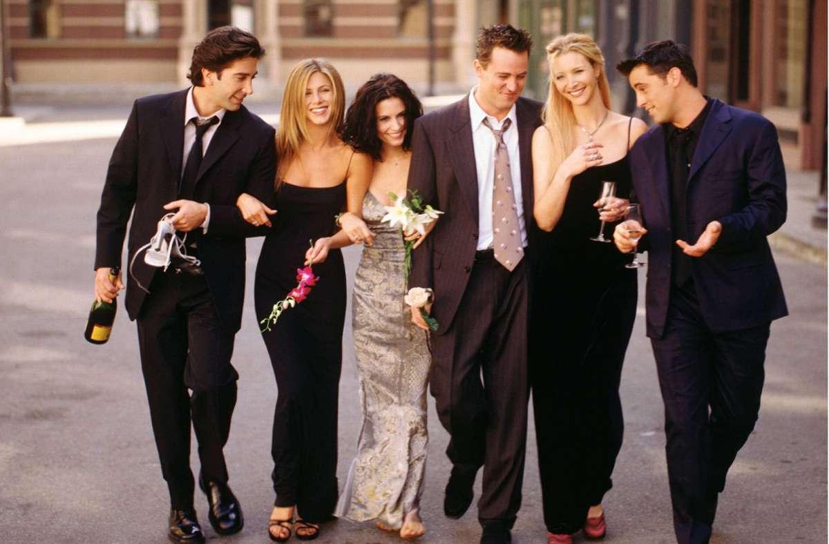 """Vor 17 Jahren ging """"Friends"""" zu Ende – jetzt gibt es ein Wiedersehen. Foto: imago images / Cinema Publishers Collection"""