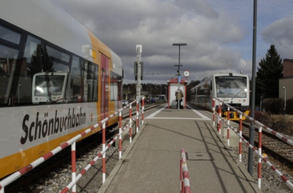 Die Haltestelle Holzgerlingen-Nord soll neu gestaltet werden. Von dort aus wird ein zweites Gleis bis zum  Halt Böblingen-Zimmerschlag verlegt. Foto: factum/Bach