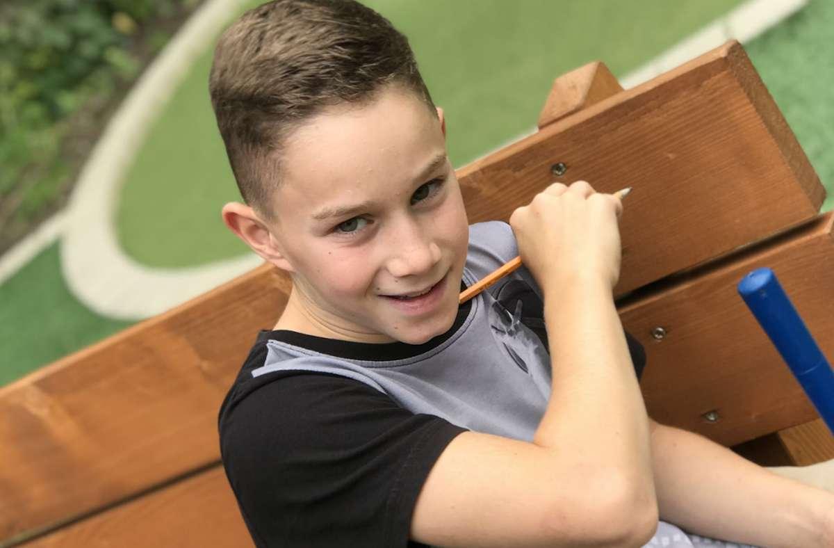 Valentin Forstner, 12, verzichtet bis auf Weiteres Foto: Privat