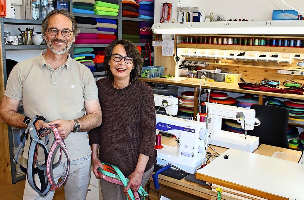 Andreas und Susanne Schazmann in ihrer Werkstatt in Sillenbuch Foto: Caroline Holowiecki
