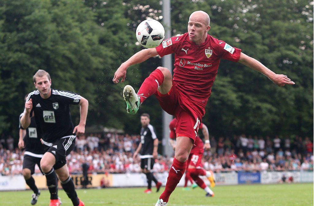Tobias Werner durfte in Biberach von Beginn an ran. Foto: Pressefoto Baumann