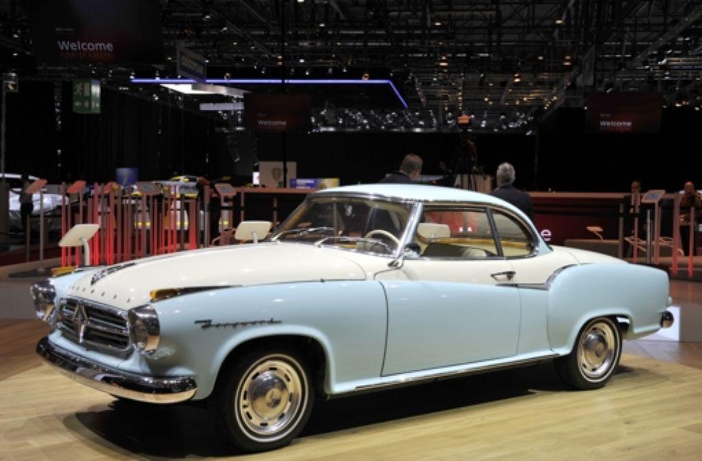 Beim Genfer Autosalon ist auch die legendäre Borgward Isabella ausgestellt. Ein neues Modell will der wiederbelebte Autohersteller im September auf der IAA in Frankfurt präsentieren. Foto: Getty Images Europe