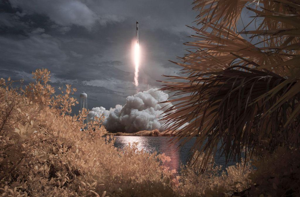 Die SpaceX-Rakete war am Samstag gestartet. Foto: dpa/Bill Ingalls