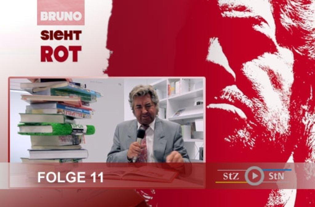 Die Dreharbeiten zur elften Folge von Bruno sieht rot: Diesmal war das Videoteam vor und in der neuen Stadtbibliothek in Stuttgart am Mailänder Platz. Klicken Sie sich durch unsere Bildergalerie. Foto: SIR