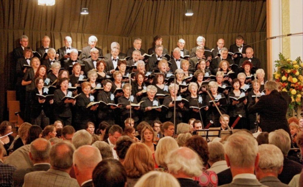 """Der Botnanger Liederkranz feierte 2010 sein 150-Jahr-Jubiläum. Der Höhepunkt war das Konzert """"Die Jahreszeiten"""" von Joseph Haydn. Foto:"""