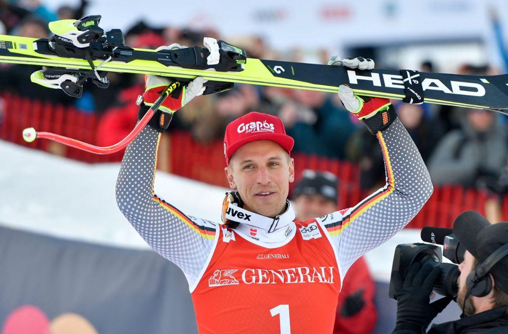 Josef Ferstl gewinnt in Kitzbühel – wie schon sein Vater Sepp Ferstl vor 40 Jahren. Foto: dpa