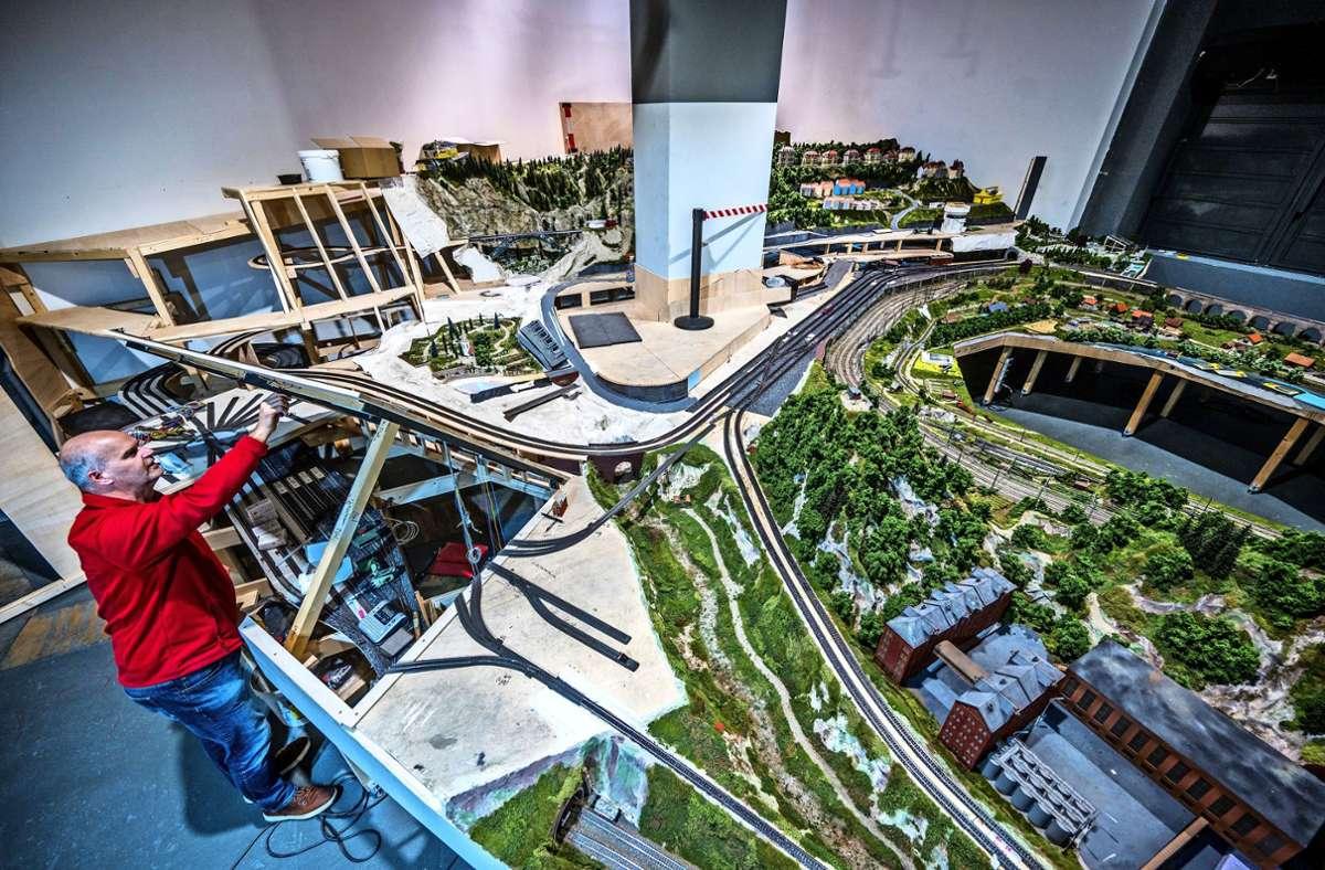 Die neue Modellbahn für das Märklineum ist fast fertig, doch die Pandemie verhindert eine schnelle Öffnung des Museums in Göppingen. Foto: Giacinto Carlucci