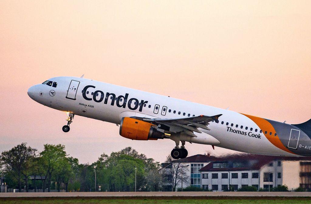 Noch heben die Maschinen von Condor ab. Foto: picture alliance/dpa/Patrick Pleul