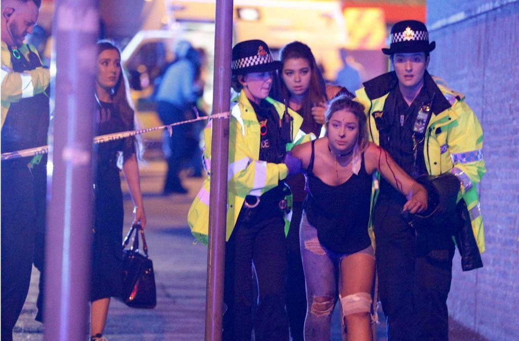 Bei einer Explosion auf einem Popkonzert im britischen Manchester sind mindestens 23 Menschen ums Leben gekommen. Foto: London News Pictures via ZUMA