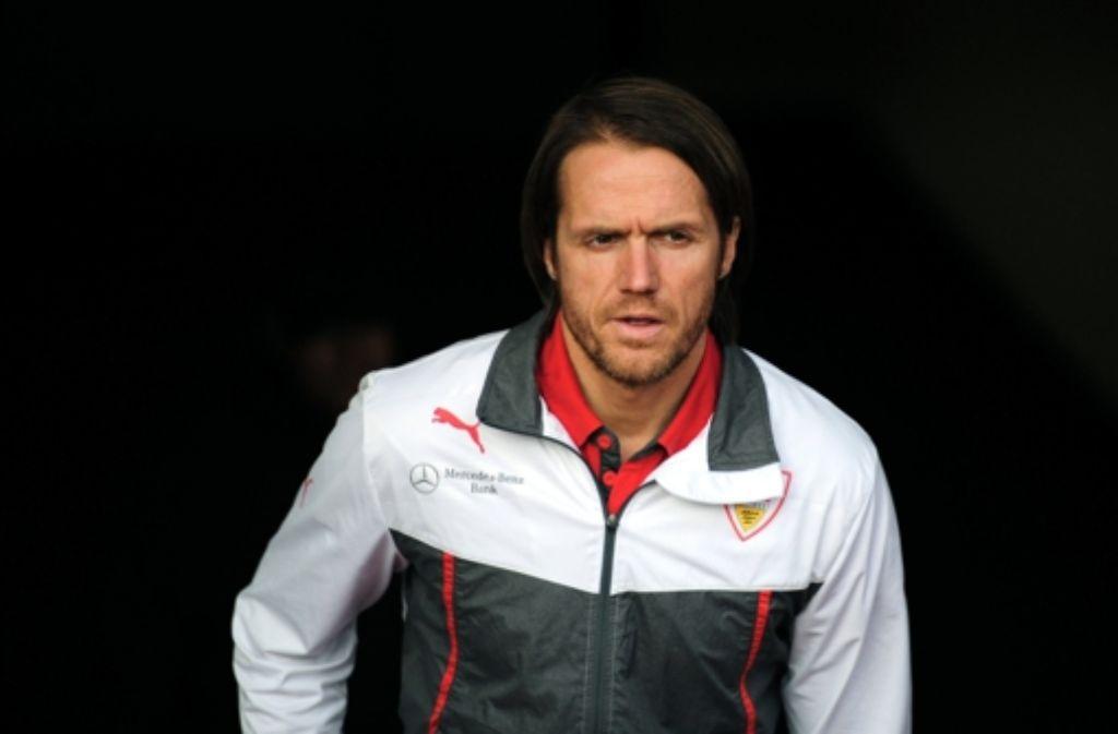 Thomas Schneider bleibt auch nach acht Niederlagen in Folge Cheftrainer beim VfB Stuttgart. In der Bilderstrecke zeigen wir die wichtigsten Stationen seiner Karriere. Foto: dpa