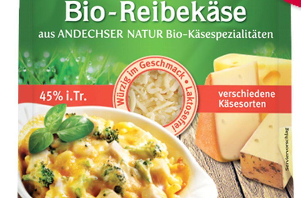 Der Käse mit dem Mindesthaltbarkeitsdatum 3.4.2020 ist vom Rückruf betroffen. Foto: Andechser Natur