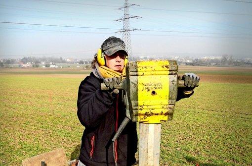 Ein Bohrteam vom Thünen-Institut nimmt Bodenproben bei Renningen Foto: Link