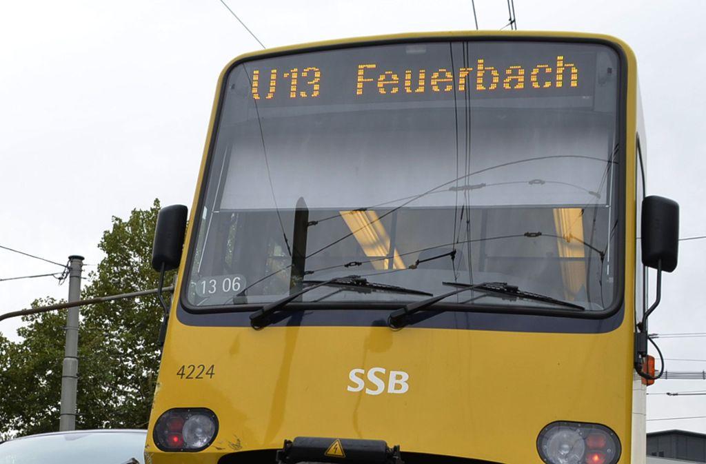 Eine Bahn der Linie U13 ist am Mittwoch in einen Verkehrsunfall verwickelt gewesen. Foto: Andreas Rosar Fotoagentur-Stuttg