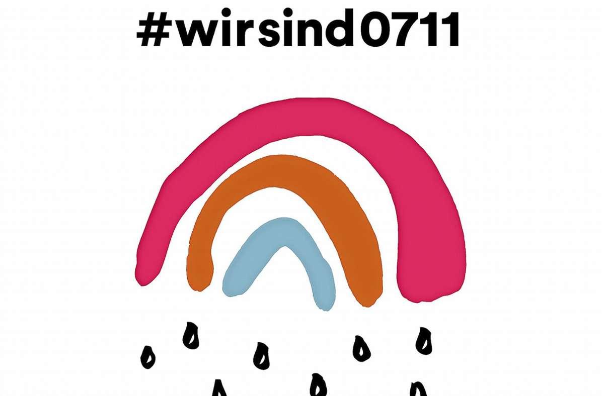 """Erkennungszeichen der Kampagne: der """"Kleine Regenbogen"""" der Grafikdesignerin Sarah Gilgien Foto: /Sarah Gilgien"""