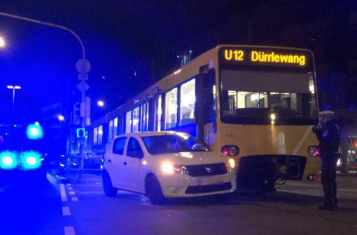 Unfall mit Stadtbahn sorgt für Unterbrechung der Strecke