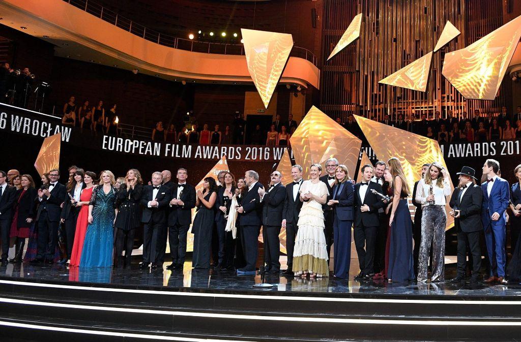 In Breslau wurden am Wochenende die Europäischen Filmpreise vergeben. Sehen Sie in unserer Bilderstrecke, wer alles vor Ort war. Foto: dpa
