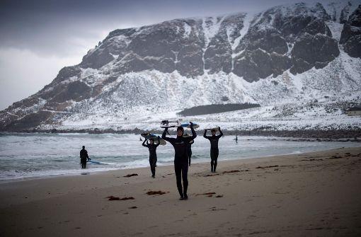Lofoten: Surf- statt Schneeurlaub
