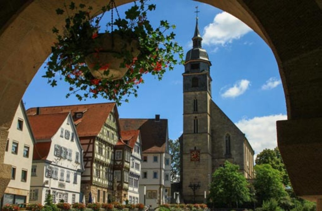 Die Altstadt von Böblingen: In der Kreisstadt gibt es an 80 Häusern tiefe Risse. Der Grund sind vermutlich Erdwärmebohrungen. Foto: Leserfotograf pn