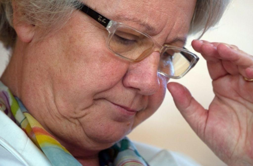Unter Plagiatsverdacht: Bundesbildungsministerin Annette Schavan Foto: dpa