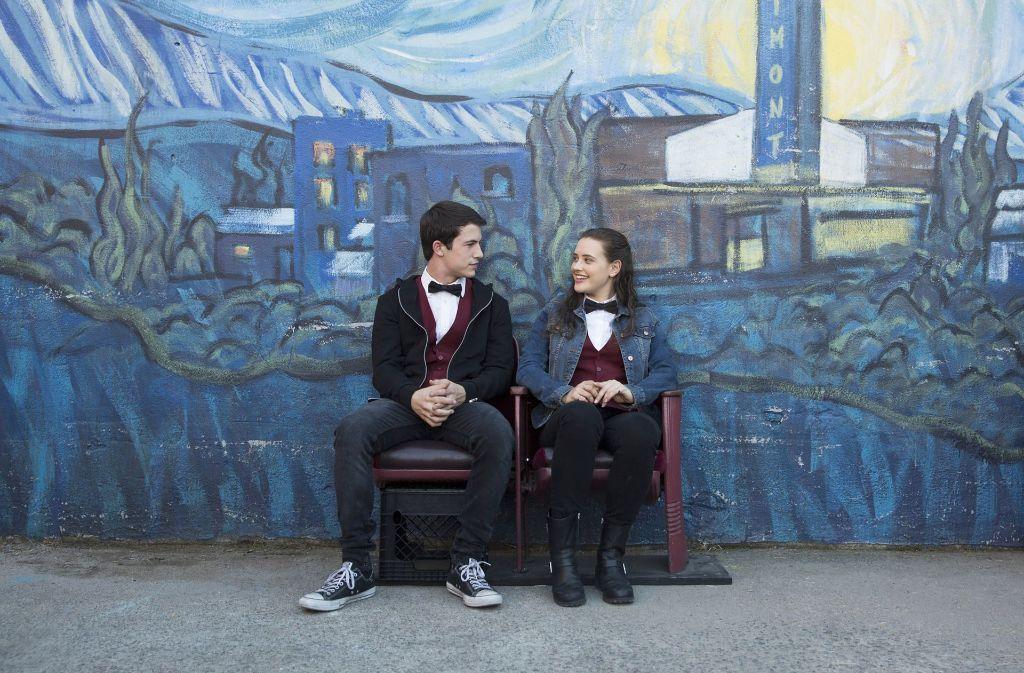 """""""Tote Mädchen lügen nicht"""": Dylan Minnette als Clay Katherine Langford als Hannah Foto: Beth Dubber/Netflix"""