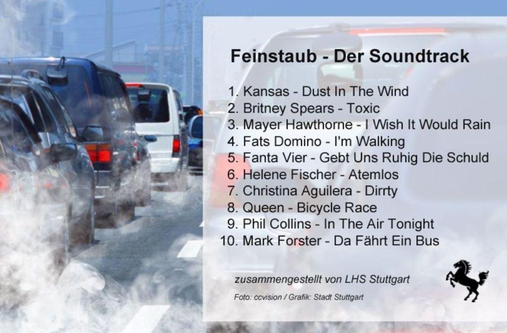 Die Stadt Stuttgart hat eine Playlist für Fahrgemeinschaften veröffentlicht. Der Aufruf dahinter: den Verkehr reduzieren. Foto: Screenshot Twitter Stadt Stuttgart