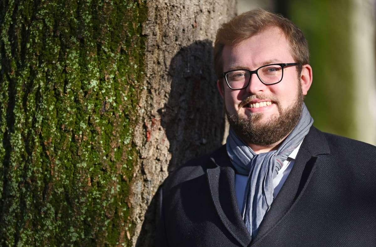 Alexander Maier ist 29 Jahre alt. Am 14. Januar tritt er das Amt das Oberbürgermeisters von Göppingen an. Foto: dpa/Marijan Murat
