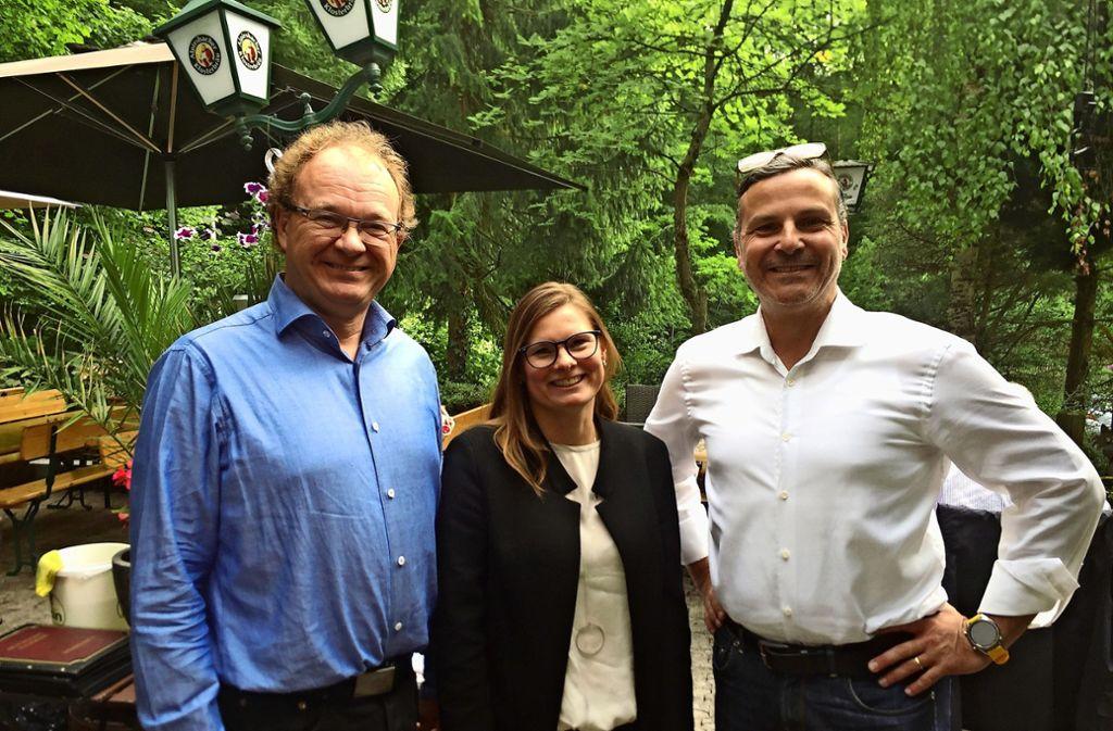 Michael Conz, Charlotta Eskilsson und Thilo Scholpp (von links) bewerben sich um den Posten des Bezirksvorstehers im Stuttgarter Osten. Foto:
