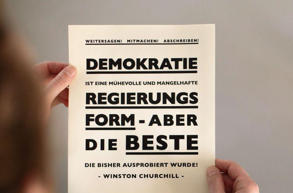 Anstrengend, aber wichtig: Reden wir über Demokratie.. Foto: Timo Schillings/Bürovier