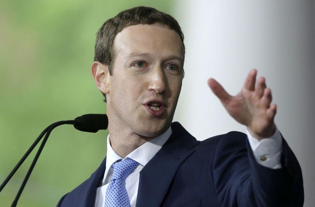 Mark Zuckerberg hat neue Vorfahrtsregeln für Facebook-Inhalte angekündigt. Foto: AP