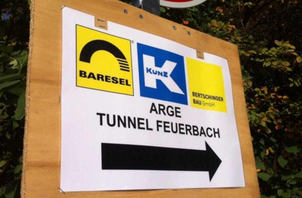 Der Feuerbacher Tunnel ist in Bau. Foto: StZ