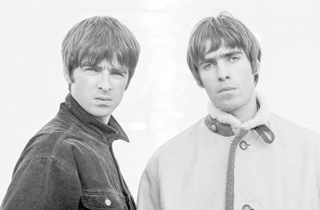 Die Geschichte einer Hassliebe: Oasis-Gitarrist Noel Gallagher (links) und Sänger Liam Gallagher Foto: Jill Furmanovsky/Elite Film