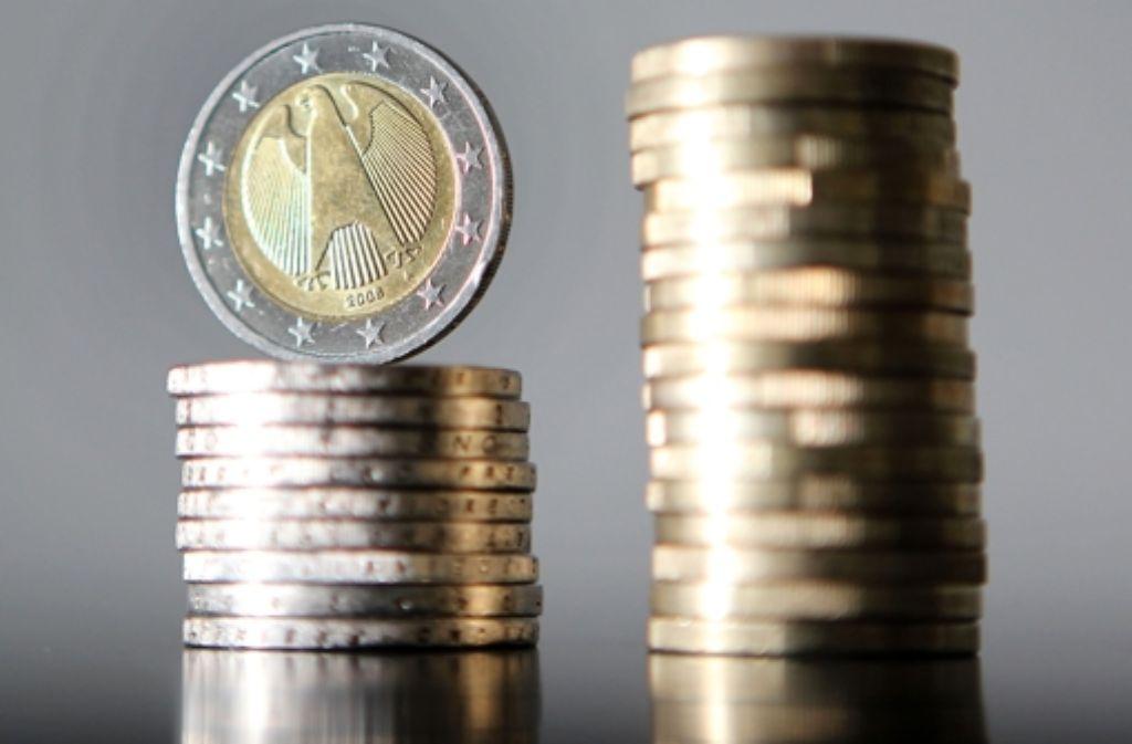 Die Inflationsrate in den Euro-Ländern bewegt sich im negativen Bereich. Foto: dpa