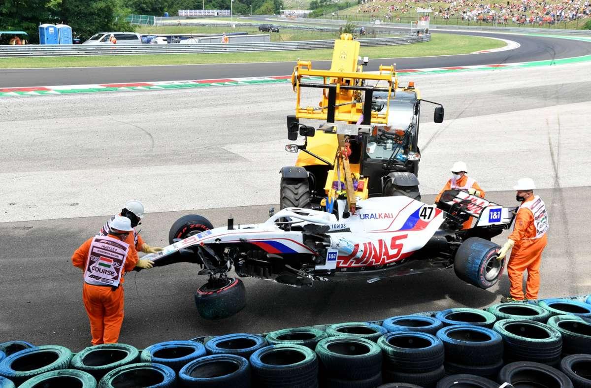 Mick Schumacher kam mit dem Schrecken davon. Foto: imago images/Motorsport Images/Mark Sutton