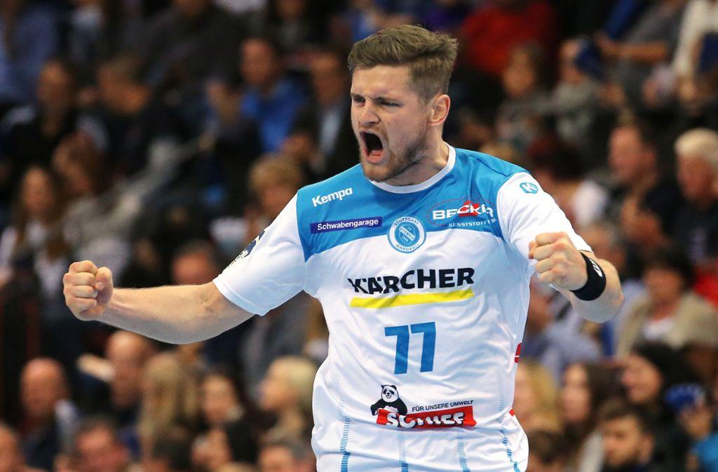 Freude pur: David Schmidt darf mit zur Handball-EM. Foto: Baumann