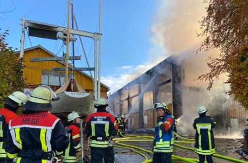 Brand verursacht Millionenschaden –  Öl im Bodensee