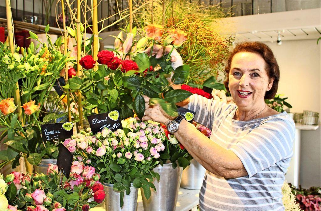 Ute Glemser-Wild führt ihr Geschäft in Sillenbuch seit 1985. Heute hat sie Probleme. Foto: Caroline Holowiecki