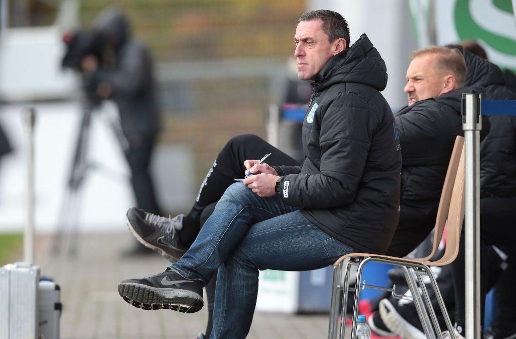 Dieter Märkles Zukunft als Chetrainer bei den Stuttgarter Kickers ist ungewiss Foto: Baumann