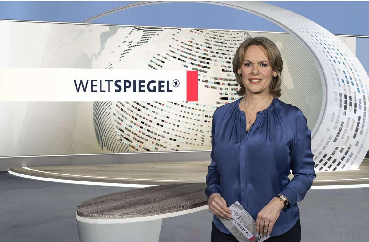 """An einer ARD-Institution wird gerüttelt: Der neben anderen von Ute Brucker moderierte """"Weltspiegel"""" soll seinen Sonntagsplatz verlieren. Foto: obs/Patricia Neligan"""