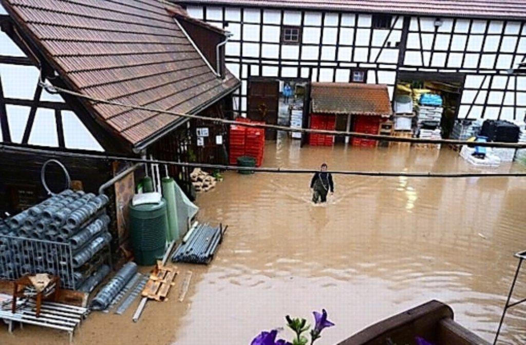Viele Häuser sind überflutet. Foto: privat