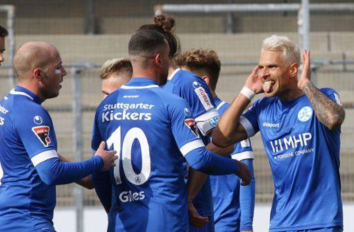 Stuttgarter Kickers setzen Trainingsbetrieb aus