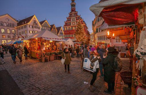 Weihnachtsmarkt in reduzierter Form