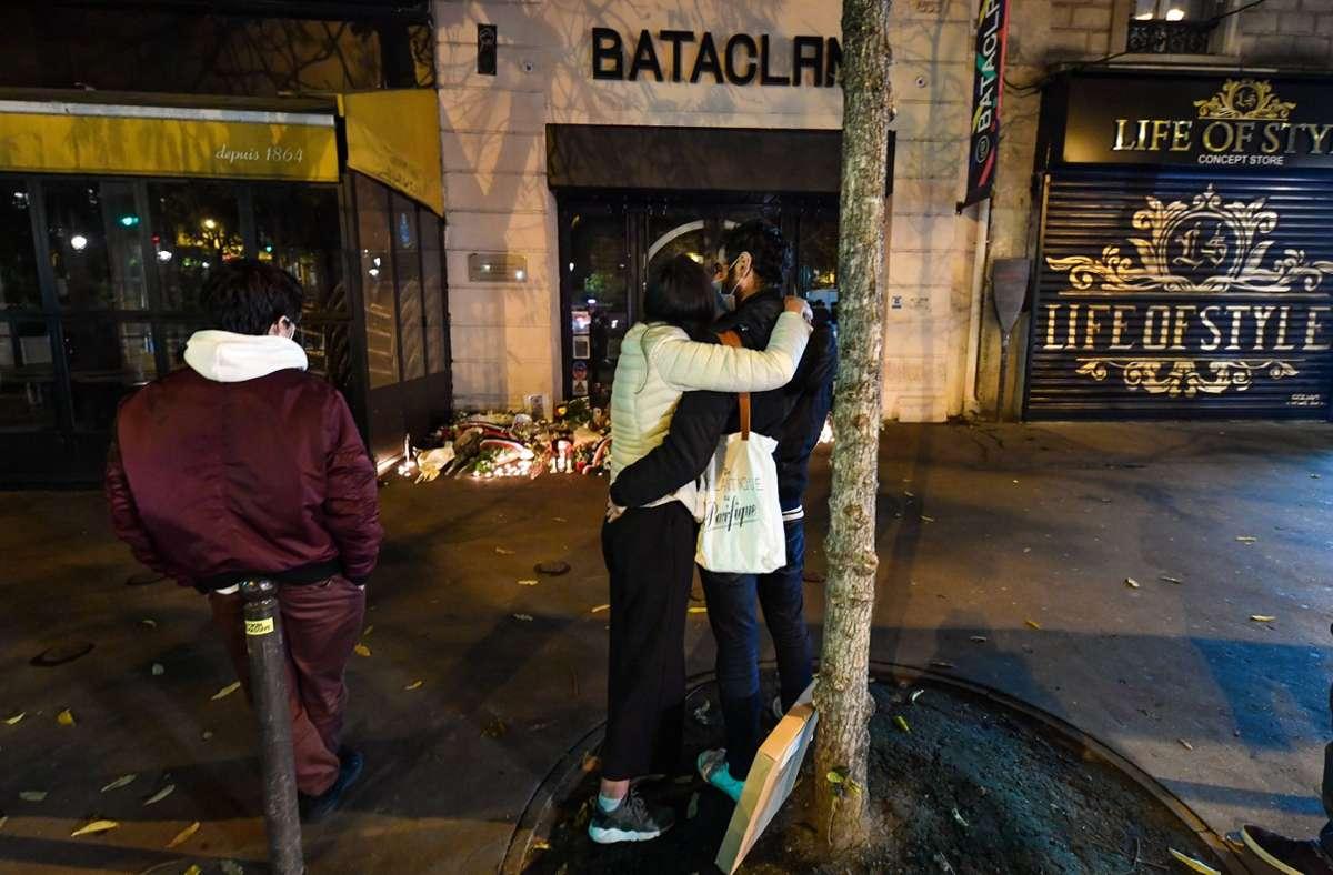 Gedenkort Bataclan: Die Anschläge vom 13. November 2015 waren die schwersten in der französischen Geschichte. Foto: imago / /L.Urman