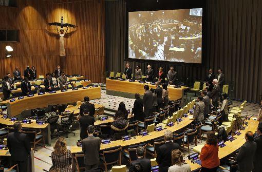 Schweigeminute für toten UN-Botschafter Russlands