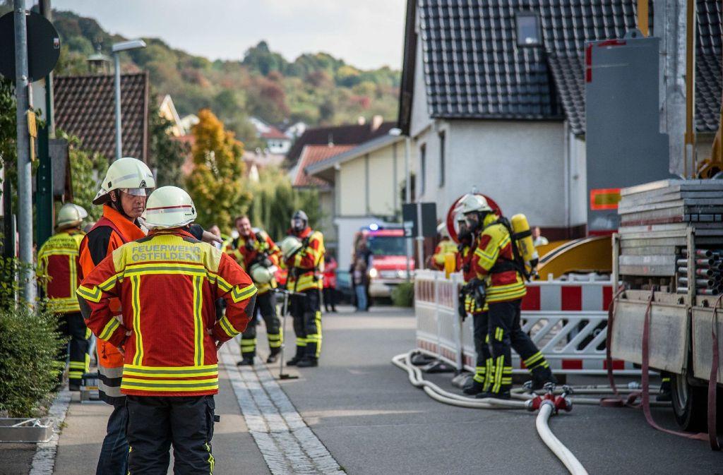 Auch Einsatzkräfte aus Ostfildern rückten nach Owen aus. Foto: SDMG