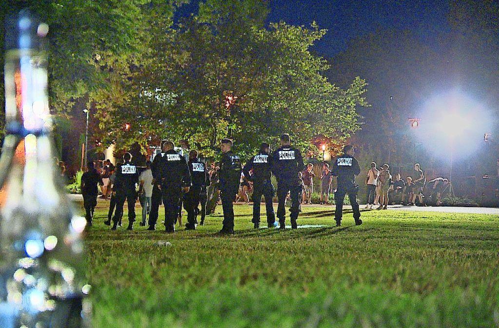 Die Polizei hat den Schlossplatz in Schorndorf am Montag ab 22 Uhr geräumt. Foto: 7aktuell.de/Simon Adomat