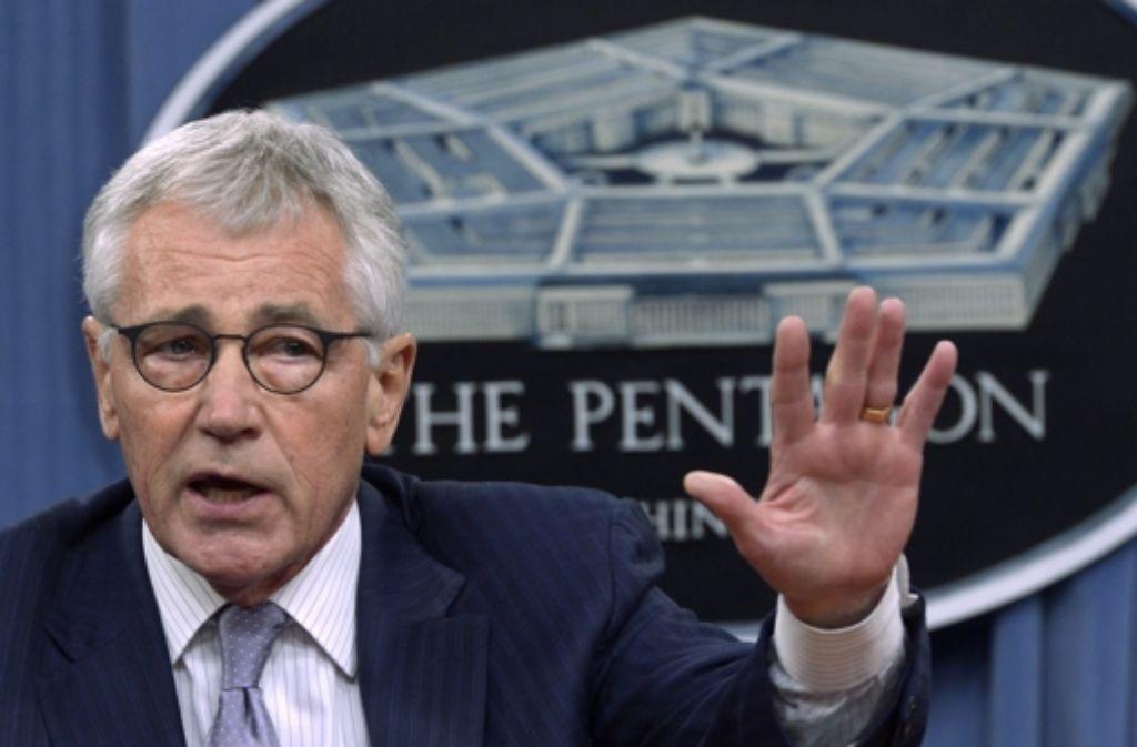 Der US-Verteidigungsminister Chuck Hagel sieht in der Terrormiliz Islamischer Staat eine extreme Bedrohung. Foto: dpa