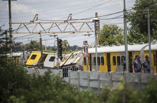 Mehr als 600 Verletzte bei Zugunglück in Südafrika
