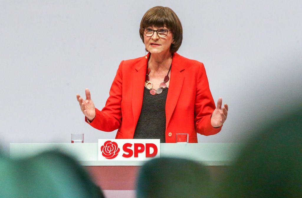 Saskia Esken wurde erst vor Kurzem SPD-Vorsitzende. Foto: dpa/Wolfgang Kumm
